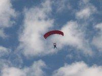 Parachuting to the ground