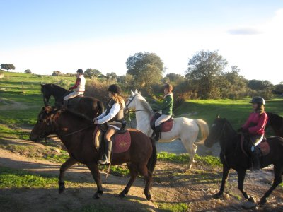 Horse riding tour in Berruecos 30 min