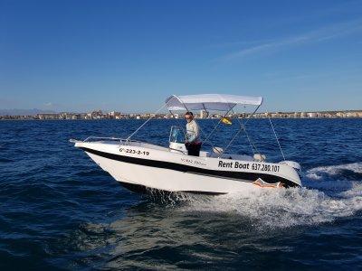 Voraz 5.0 boat rental no license Santa Pola 8h
