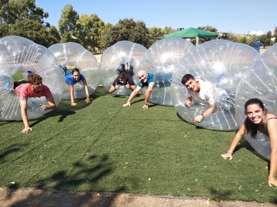 Bubble Football on artificial turf Madrid 1 hour