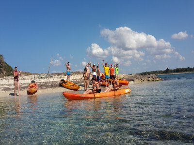 Double-seater canoe rental in Mallorca 1 day