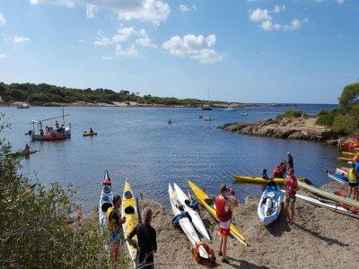 Kayak rental for 1 person in Colonia Sant Jordi
