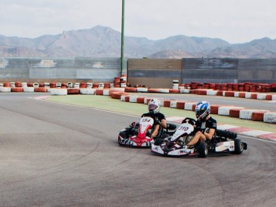 8-minute go-karting round in Águilas