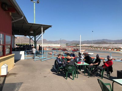 Kart 400cc race with previous phases in Águilas