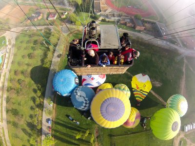 Balloon flight in the European Balloon Festival