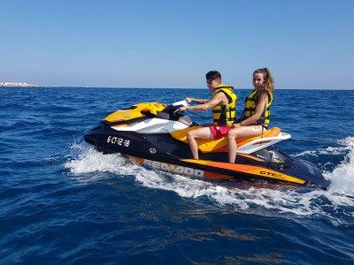 Jet ski, parasailing pairs team building Alicante
