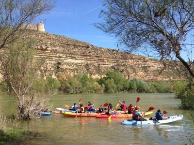 Kayaking descent Ebro in stages 4 days