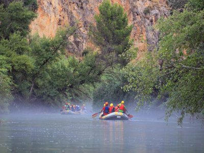 Rafting Almádenes canyon Caves visit and photos
