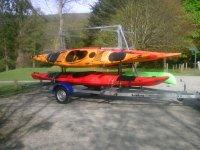 Prijon kayaks and german trailer