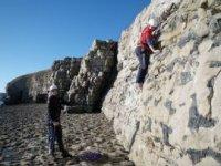 Individual rock climbing instruction