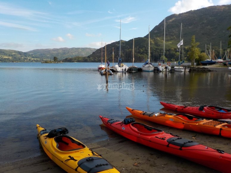 Our Kayaks ready to start route