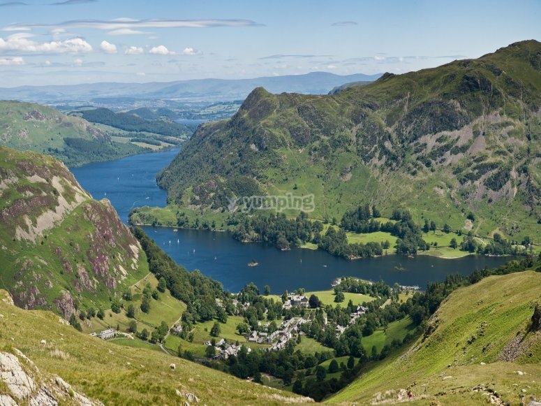 Ullswater Lake from the mountain