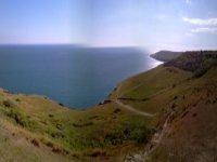 Cycling along the coastline