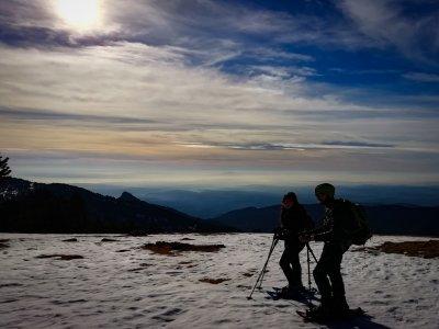 Snowshoes initiation in Rasos de Reguera 2h