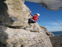 Rock climbing relies on technical moves