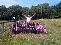 Weekend Groups in Divoky Riding School.