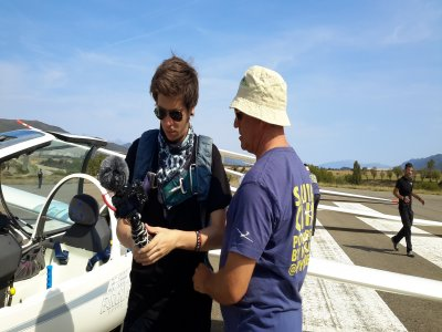 Glider Flight and video from Santa Cilia 3 h