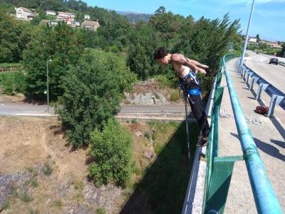 Bungee jumping in Noia in the Rías Bajas