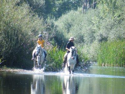 Romantic weekend on horseback Tormes river