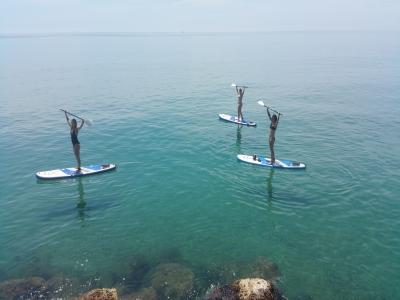 Paddle surf guided tour La Arrabasada beach 2h