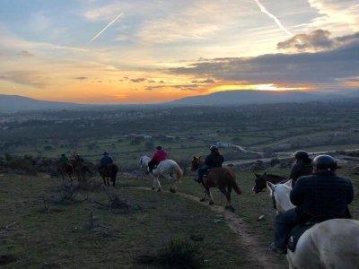 Night horseback tour in La Pedriza 4 hours