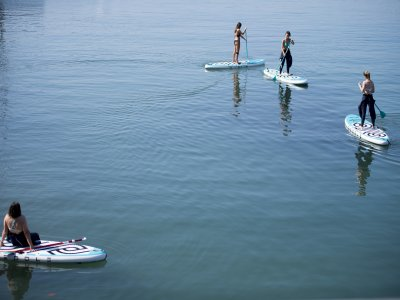 Paddle surfing 1 h and 30 min in coast of Gijón