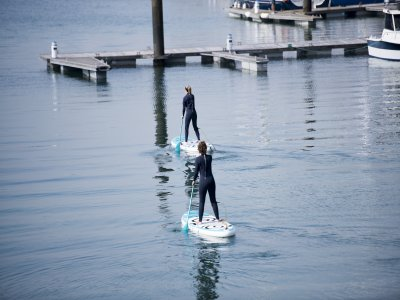 Paddle surf rental in Gijón beach for 1 hour
