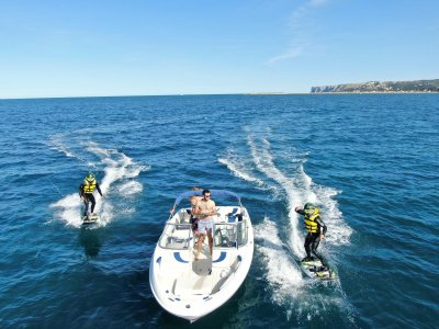 Boat trip with snorkel and jet surf in Dénia 2 h
