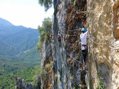 Via ferrata Castillo del Águila high level 2h 30