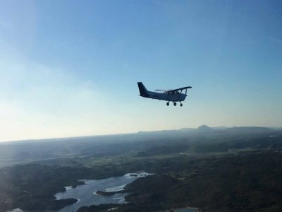 Light aircraft flight Montserrat/ Montseny 2h 20'
