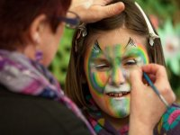 Freaky nature face painting
