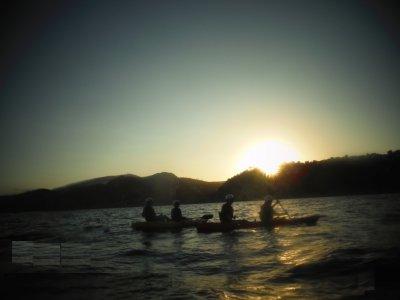 Kayak tour at sunset Cala Granadella 4 hours