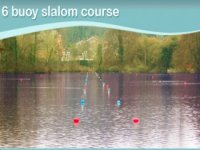 Get on the water with our 6 buoy slalom course