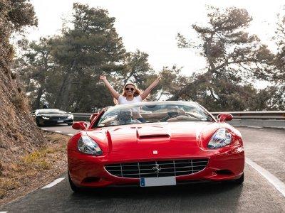 Drive Ferrari and sailboat ride 2 pax Barcelona