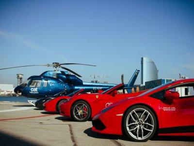 Ferrari ride & helicopter couples 30 min Barcelona