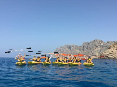 Guided kayaking route Cala Sant Vicenç 2h 30 min