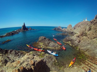 Guided kayak route in Cabo de Gata 3 hours