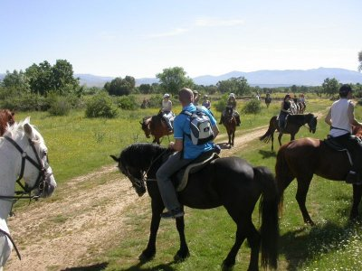 Horse riding route southern Torcal Antequera 1h