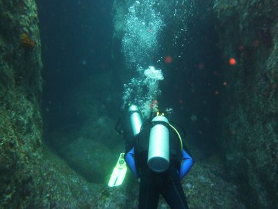 1 night diving immersion in Lanzarote for 3h