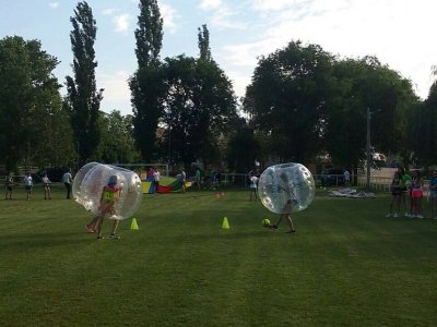 Paintball and bubble football Teambuilding Gandía