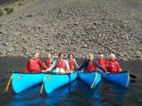 Lake canoeing with larhe groups at West Lakes Adventure