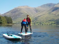 Taking private lessons at West Lakes Adventure Paddle Boarding