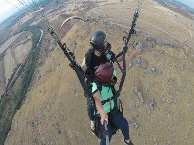 Paraglider baptism in Alarilla 10 min flight