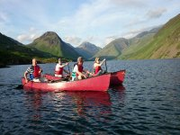 Canoeing with couples at West Lakes Adventure