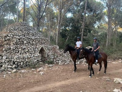 Equestrian route initiation Cala Mitjana 1h 30min