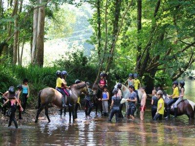 Horse riding visit for schools Mera de Baixo 1 day