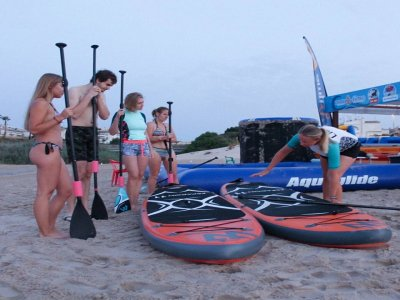 Paddle surf class in Mil Palmeras Beach 1h