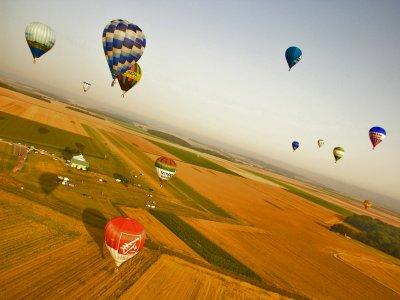 Balloon flight Campos de Tejada breakfast, video