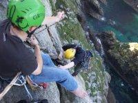 Climbing the sea cliffs of Cornwall