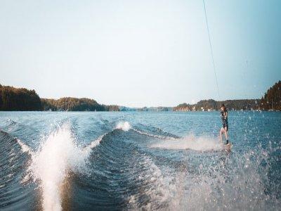 Water skiing baptism in La Manga 30 min